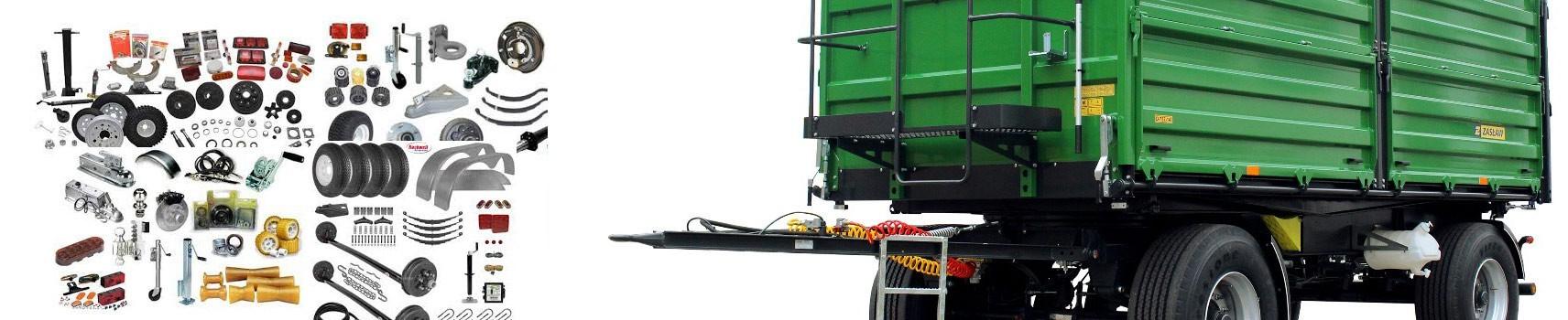 Pótkocsielemek és alkatrészek 3.5 tonnáig